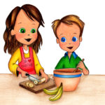 Michael and Molly Cooking with Plantains